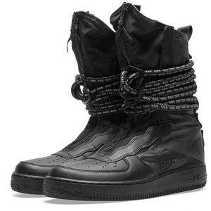 NIKE SF Air Force 1 Men Hi Boots Black/Grey Sz 13